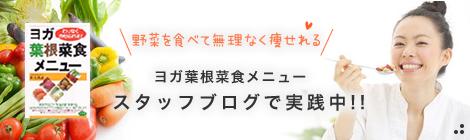 無理なく痩せるヨガ食 ヨガ葉根菜食メニュースタッフブログで実践中!!